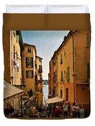 Street In Villefranche II Duvet Cover