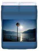 Street Lamp And Water Duvet Cover