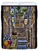 Street Lane In Dubrovnik Croatia Duvet Cover