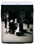 Street Musicians- Grandpa Elliot Duvet Cover