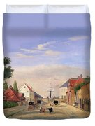 Street Scene Duvet Cover by Danish School