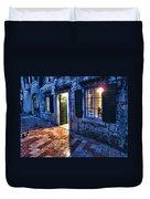 Street Scene In Ancient Kotor Montenegro Duvet Cover by David Smith