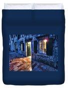 Street Scene In Ancient Kotor Montenegro Duvet Cover