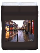 Street Scene Outside Windsor Castle Duvet Cover