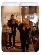 Street String Quartet Duvet Cover