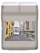 Street With Houses Duvet Cover