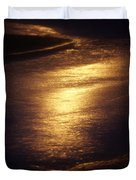 Gold Water On The Street Duvet Cover