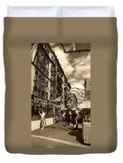 Streets Of Little Italy Duvet Cover