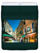 Streets Of Venice Duvet Cover