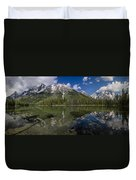 String Lake Panorama Duvet Cover