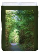 Stroll Through The Quinault Rain Forest Duvet Cover