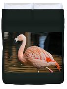 Strolling Flamingo Duvet Cover