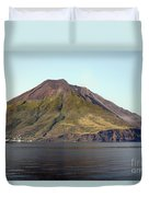 Stromboli Volcano, Aeolian Islands Duvet Cover by Richard Roscoe