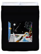 Stuck In Time And Space Duvet Cover