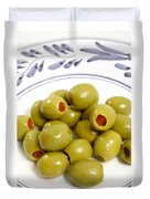 Stuffed Green Olives Duvet Cover
