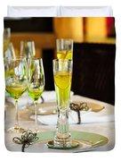Stylish Dining Table Arrangement Duvet Cover