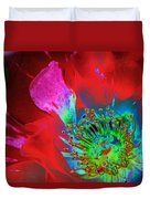 Stylized Flower Center Duvet Cover