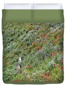 Subalpine Wildflowers Duvet Cover