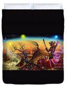 Submit As The World Burns Duvet Cover