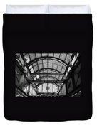 Subway Glass Station In Black And White Duvet Cover