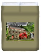 Sudbury - Storm Looms At The Grist Mill Duvet Cover