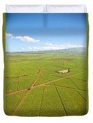 Sugar Cane Fields Duvet Cover