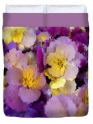 Sugared Pansies Duvet Cover