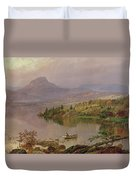 Sugarloaf From Wickham Lake Duvet Cover by Jasper Francis Cropsey