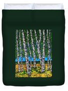 Summer Birches Duvet Cover