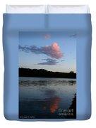 Summer Cloud Reflections Duvet Cover