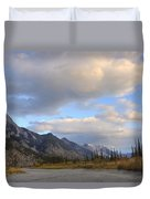 Summer Clouds Over Colin Mountain Duvet Cover