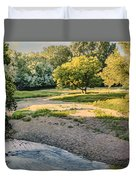 Summer Evening Along The Creek Duvet Cover
