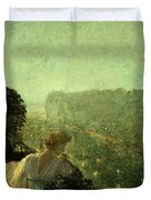 Summer Evening In Paris Duvet Cover by Childe Hassam