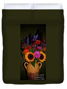 Summer Flower Bouquet Duvet Cover