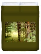 Summer Forest. Pine Trees Duvet Cover by Jenny Rainbow