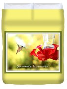 Summer Hummer Poster Duvet Cover