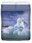 Summer Icebergs, Spitsbergen Island Duvet Cover