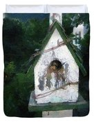 Summer Night With Birdhouse Duvet Cover