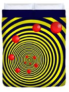 Summer Red Balls With Yellow Spiral Duvet Cover