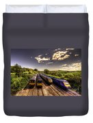 Summer Saturday At Aller Junction Duvet Cover