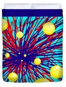 Summer Splat With Yellow Balls Duvet Cover