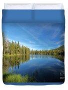 Summit Lake Blues Duvet Cover
