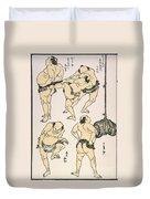Sumo Wrestlers, 1817 Duvet Cover