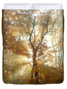 Sun Breaking Through Trees Duvet Cover