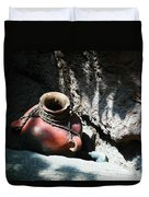 Sun Dappled Pottery Duvet Cover by Jeff Swan