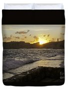 Sun Going Down Over Dubrovnik Duvet Cover