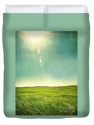 Sun Over Field Duvet Cover