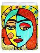 Sun Praying Angel Duvet Cover