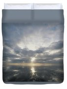 Sun Reflection Over Water, Wattenmeer Duvet Cover