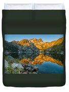 Sun Rises On Upper Sardine Lake Duvet Cover